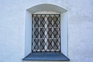 image of barred windows
